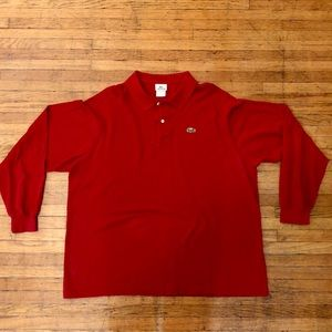 Lacoste Long Sleeve Pique Polo, French 8 (US 2XL)
